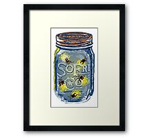 Southern Fried Mason Jar Framed Print