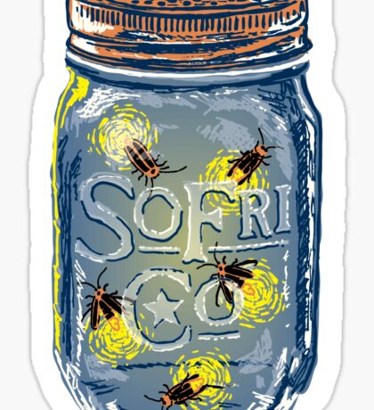 Southern Fried Mason Jar Sticker