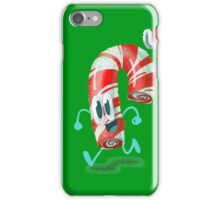 Hat-py Holiday Walking Candy Cane iPhone Case/Skin