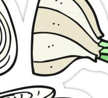 cartoon sliced onion Sticker