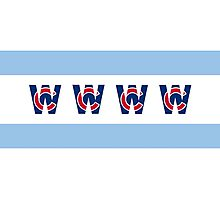 Cubs Win Chicago Flag Photographic Print