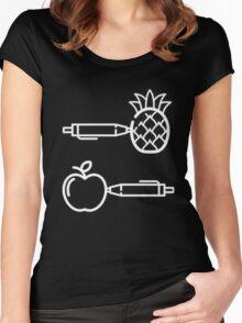 Pen Pineapple Apple Pen Women's Fitted Scoop T-Shirt