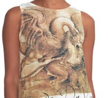 Dragon Striking Down Lion by Leonardo da Vinci  Contrast Tank