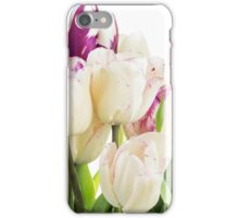 Purple and white tulips iPhone Case/Skin