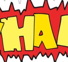cartoon wham! symbol Sticker
