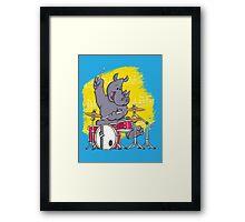 Rocking Rhino Framed Print