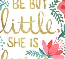 Little & Fierce on Charcoal Sticker