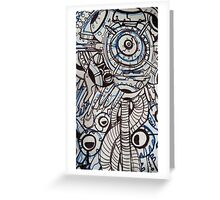 abstract technology Greeting Card