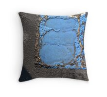 Blue Asphalt 13D Throw Pillow