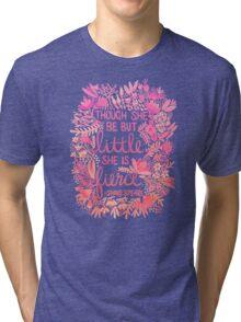 Little & Fierce – Pink Ombré Tri-blend T-Shirt