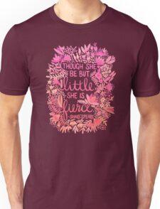 Little & Fierce – Pink Ombré Unisex T-Shirt