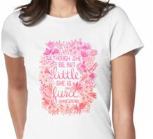 Little & Fierce – Pink Ombré Womens Fitted T-Shirt