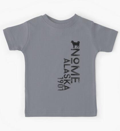Nome, Alaska (Dark Silhouette Version) Kids Tee