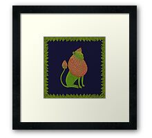 Asparagus Lion, King of the Vegetables Framed Print