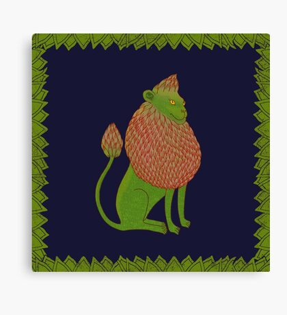 Asparagus Lion, King of the Vegetables Canvas Print