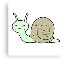 cartoon cute snail Canvas Print