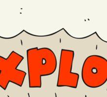 cartoon explosion Sticker