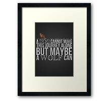 ... A Wolf Can Framed Print