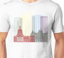 Edmonton skyline poster Unisex T-Shirt
