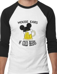 Mouse Ears N' Cold Beers (Epcot version) Men's Baseball ¾ T-Shirt