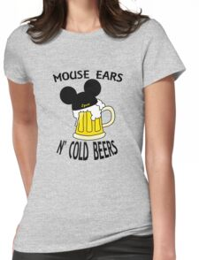 Mouse Ears N' Cold Beers (Epcot version) Womens Fitted T-Shirt