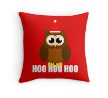A Very Hooty Christmas Throw Pillow