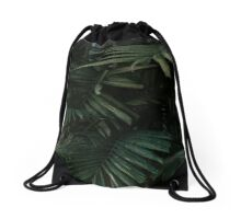 Bunch of palm leaves minimalist Drawstring Bag
