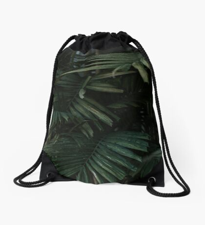 Bunch of palm leaves minimalist Drawstring Bag