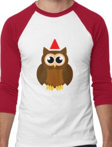 A Very Hooty Christmas (no text) Men's Baseball ¾ T-Shirt