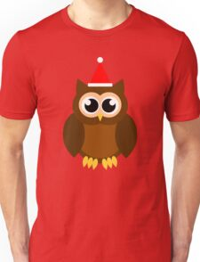 A Very Hooty Christmas (no text) Unisex T-Shirt