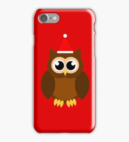 A Very Hooty Christmas (no text) iPhone Case/Skin