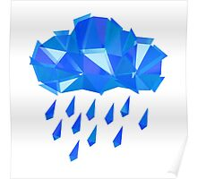 Blue Crystal Rain Poster