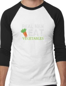 Real Men Eat Vegetables - Vegan Men's Baseball ¾ T-Shirt
