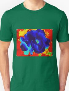 Cool Rose in Fire Unisex T-Shirt
