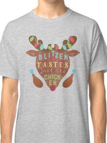 Funny Christmas Blitzen Chicken Reindeer Humor Classic T-Shirt