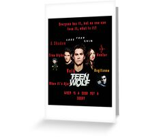 Teen Wolf Season 3 Quotes Greeting Card