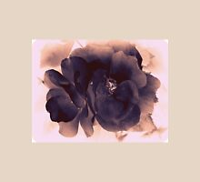 Carbon Ink Rose Womens Fitted T-Shirt