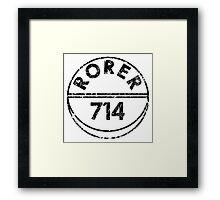 RORER 714 Framed Print