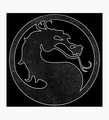°GEEK° Mortal Kombat B&W Logo Photographic Print