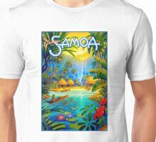 SAMOA; Vintage Travel and Tourism Advertising Print Unisex T-Shirt