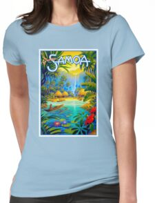 SAMOA; Vintage Travel and Tourism Advertising Print Womens Fitted T-Shirt
