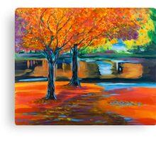 Colorful autumn trees Canvas Print
