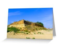 Landscape with the bluff Greeting Card