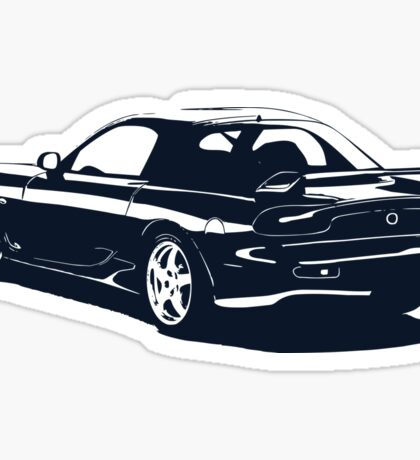 Mazda rx-7 b&w Sticker