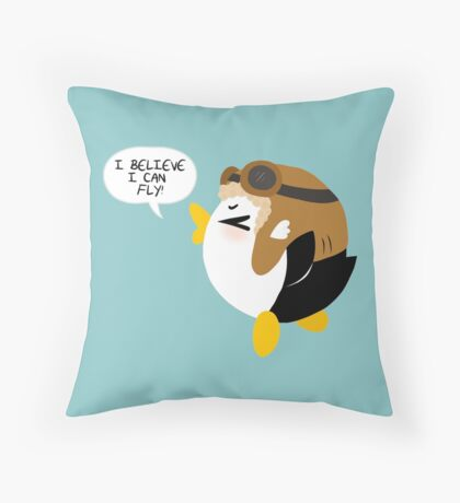 I Believe I Can Fly! Throw Pillow