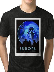 Vintage Life on Europa Travel Poster Tri-blend T-Shirt