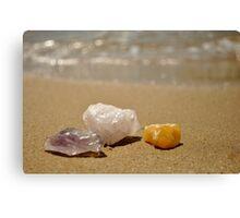 Crystals on the Beach Canvas Print