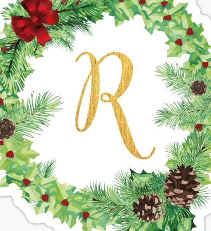 Christmas Monogram R Sticker