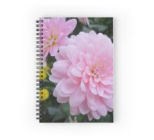 Pink Floral  Spiral Notebook