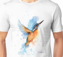 Kingfisher watercolour Unisex T-Shirt